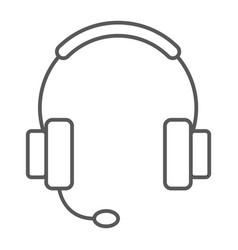 Tech support thin line icon e commerce vector