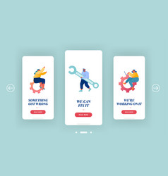 technical customers support mobile app page vector image