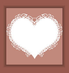 Template for postcardinvitation with heart vector