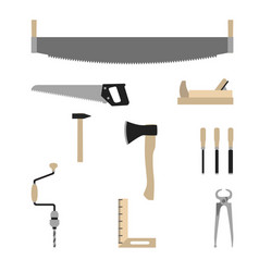 Tools of the carpenter vector