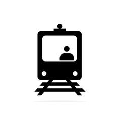 Train driver icon concept for vector