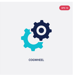 two color cogwheel icon from creative pocess vector image