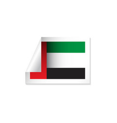Uae label flags template design vector