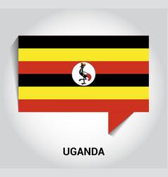 uganda flag design vector image