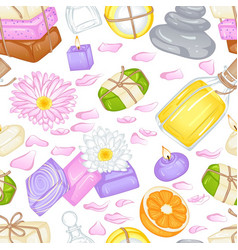 various soap pattern vector image