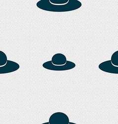 Woman hat icon sign Seamless pattern with vector