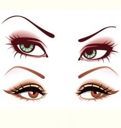 women's eyes vector image