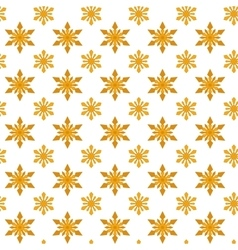 Yellow snowflakes for Christmas vector image