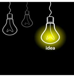 Idea a bulb vector image vector image