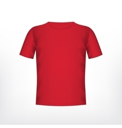 Mens red t-shirt vector