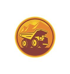 Mining Dump Truck Retro vector image vector image