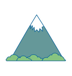 mountain with snow icon vector image vector image