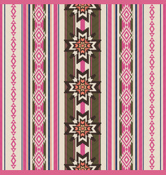 striped ornamental ethnic pattern vector image vector image