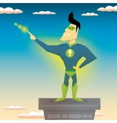 super hero vector image vector image