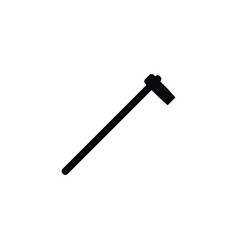 isolated hatchet icon tomahawk element can vector image vector image