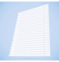 notebook paper sheet vector image vector image
