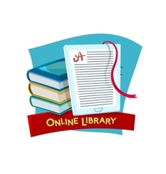 Online library vector image vector image