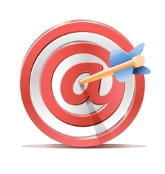 Red darts target aim and arrow vector image vector image