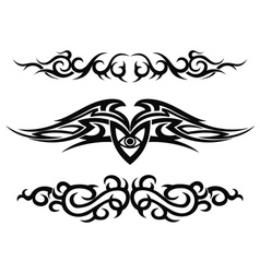 set of tattoo design elements vector image