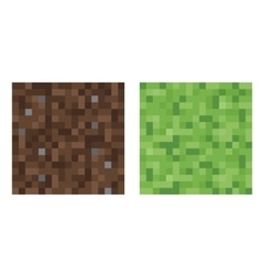 Texture for platformers pixel art - mud and vector image