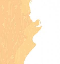 women pregnant back vector image vector image
