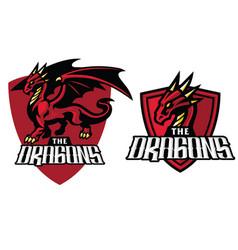 dragon mascot in set vector image vector image