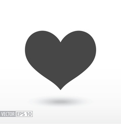 Heart flat Icon Sign heart logo for web design vector image vector image