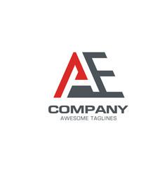 letter ae modern logo letter a logo lette vector image vector image