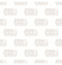 Razor Seamless watercolor pattern with stainless vector image