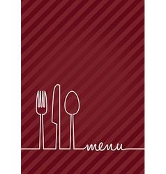 red a4 menu vector image vector image