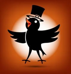 Singing Morning Bird vector image