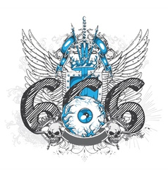 t-shirt design with eyeball vector image