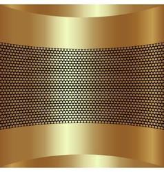 abstract golden background with grille vector image