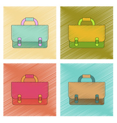 assembly flat shading style icon school bag vector image vector image