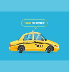 cartoon taxi vector image