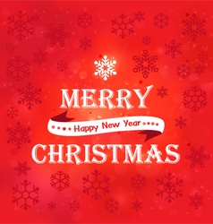marry christmas red background vector image