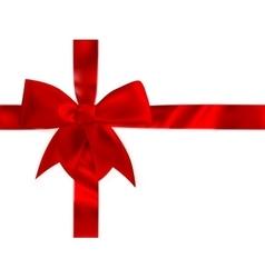 Shiny red satin bow Set EPS 10 vector image
