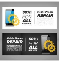 Smart phone repair banner vector image vector image