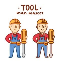 Tool man mascot vector image vector image