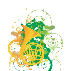 trombone graphic vector image vector image