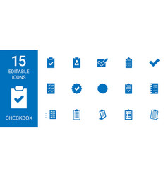 15 checkbox icons vector