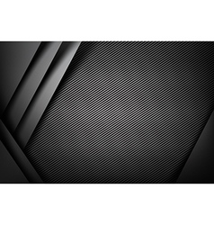 Abstract background dark with carbon fiber texture vector image