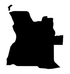 angola - solid black silhouette map of country vector image