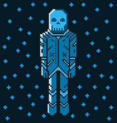 Astronaut 8 bit vector image
