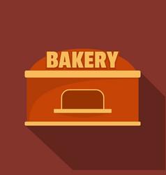 Bakery trade icon flat style vector