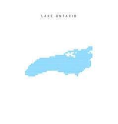 Blue wave pattern map lake ontario wavy line vector