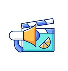 Branded promo video rgb color icon vector