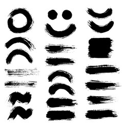 brush strokes set 10 vector image