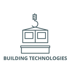 building technologies line icon building vector image