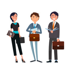 business people at partners meeting collaboration vector image